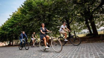 Lente fietsers