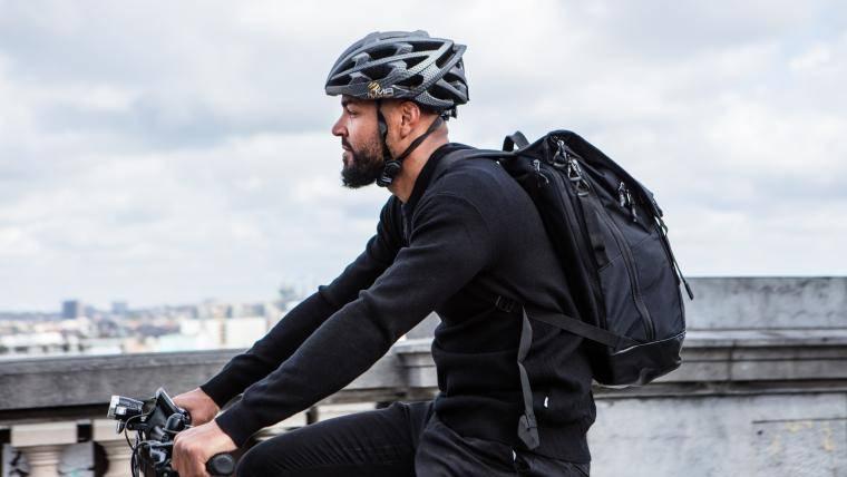 Fietser op Cyclis fiets