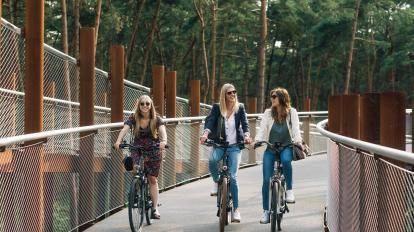 Gezonde werknemers op de fiets